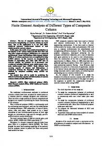 Finite Element Analysis of Different Types of Composite Column