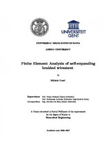 Finite Element Analysis of self-expanding braided wirestent