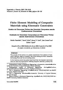 Finite Element Modeling of Composite Materials using Kinematic Constraints