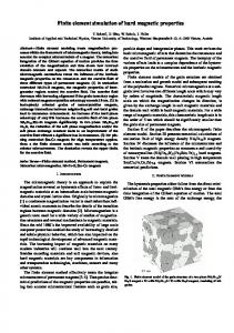 Finite element simulation of hard magnetic properties