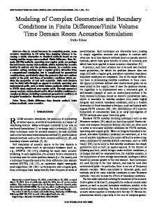 Finite Volume Time Domain Room Acoustics Simulation