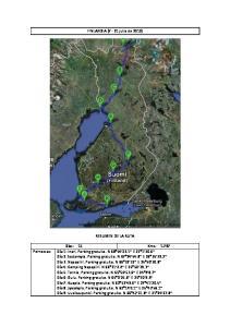 FINLANDIA (7-21 julio de 2012)