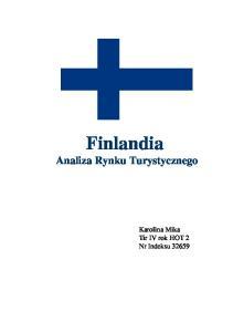 Finlandia Analiza Rynku Turystycznego