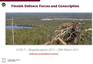 Finnish Defence Forces and Conscription