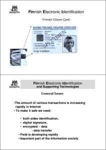 Finnish Electronic Identification