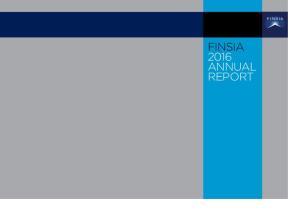 FINSIA 2016 ANNUAL REPORT