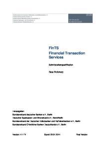 FinTS Financial Transaction Services