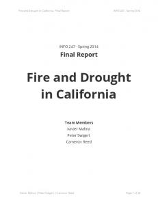Fire and Drought in California