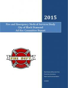 Fire and Emergency Medical Services Study City of Black Diamond Ad Hoc Committee Report
