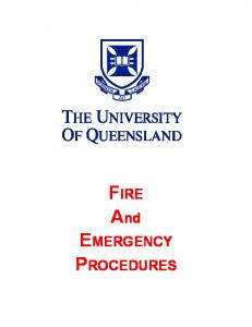 FIRE And EMERGENCY PROCEDURES