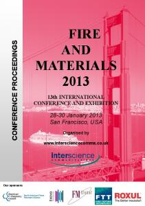 FIRE AND MATERIALS 2013