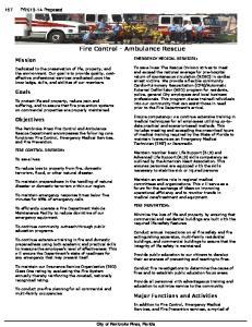 Fire Control - Ambulance Rescue