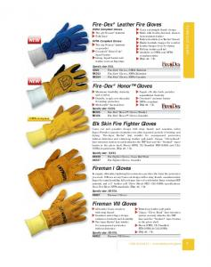 Fire-Dex Leather Fire Gloves OSHA Compliant Gloves Two-ply Nomex knitwrist Fully lined. Fire-Dex Honor Gloves