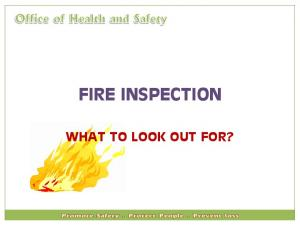 FIRE INSPECTION WHAT TO LOOK OUT FOR?