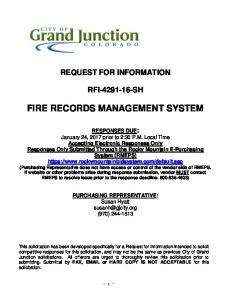 FIRE RECORDS MANAGEMENT SYSTEM