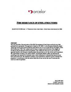 FIRE RESISTANCE OF STEEL STRUCTURES