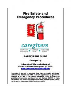 Fire Safety and Emergency Procedures