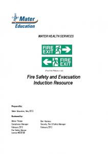 Fire Safety and Evacuation Induction Resource
