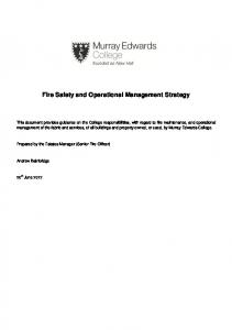 Fire Safety and Operational Management Strategy