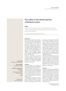 Fire safety in the dental practice: a literature review
