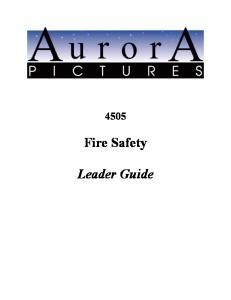 Fire Safety. Leader Guide