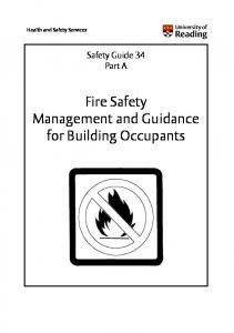 Fire Safety Management and Guidance for Building Occupants
