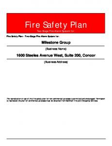 Fire Safety Plan Two-Stage Fire Alarm System for: