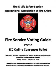 Fire Service Voting Guide