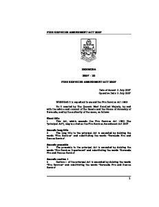 FIRE SERVICES AMENDMENT ACT 2007 BERMUDA 2007 : 23 FIRE SERVICES AMENDMENT ACT 2007