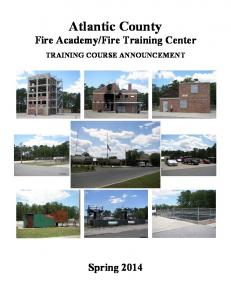 Fire Training Center TRAINING COURSE ANNOUNCEMENT