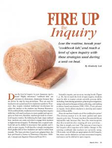Fire Up. Inquiry. Does the level of inquiry in your classroom need a. the