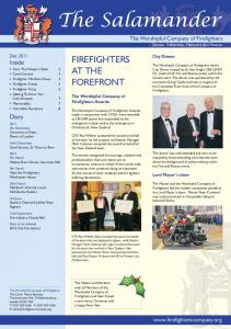 FIREFIGHTERS AT THE FOREFRONT. The Worshipful Company of Firefighters Awards
