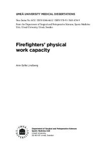 Firefighters physical work capacity