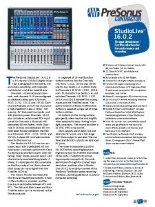 FireWire interface for live performance and recording