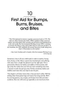 First Aid for Bumps, Burns, Bruises, and Bites