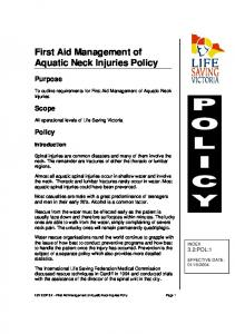 First Aid Management of Aquatic Neck Injuries Policy