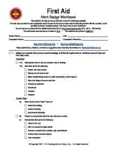First Aid Merit Badge Workbook