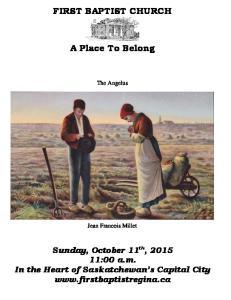 FIRST BAPTIST CHURCH. A Place To Belong