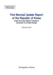 First Biennial Update Report of the Republic of Korea