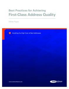 First-Class Address Quality