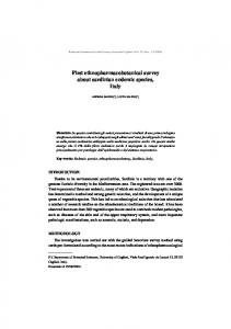 First ethnopharmacobotanical survey about sardinian endemic species, Italy
