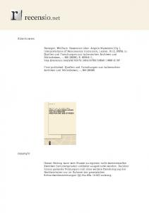 First published: Quellen und Forschungen aus italienischen Archiven und Bibliotheken, --, 88 (2008)