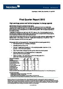 First Quarter Report 2012