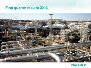 First quarter results 2016