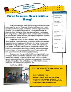 First Session: Start with a Bang!