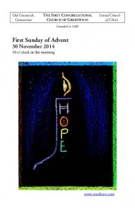 First Sunday of Advent 30 November 2014