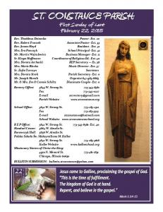 First Sunday of Lent February 22, 2015