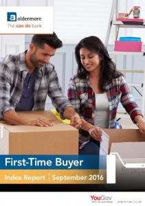 First-Time Buyer Index Report September 2016