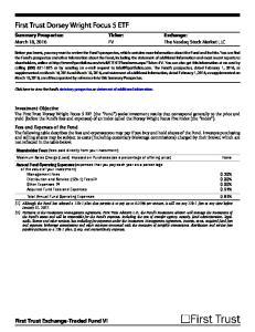 First Trust Dorsey Wright Focus 5 ETF