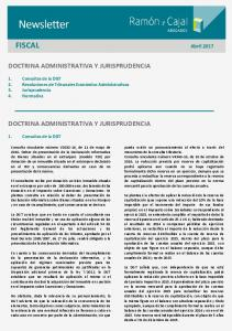FISCAL Abril 2017 DOCTRINA ADMINISTRATIVA Y JURISPRUDENCIA DOCTRINA ADMINISTRATIVA Y JURISPRUDENCIA